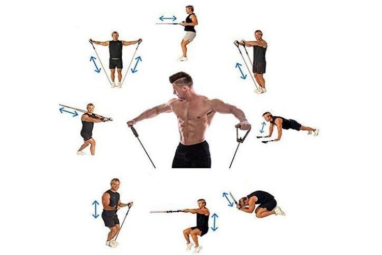exercice avec bandes elastique
